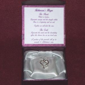 Rebecca's Hope Alzheimer's Awareness Pendant in box Gardiner's Jewelry