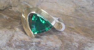 Designer Ring Green Garnet Gardiner's Jewelry Sales and Repair