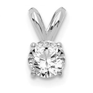 14ktw Lab Created Diamond Pendant